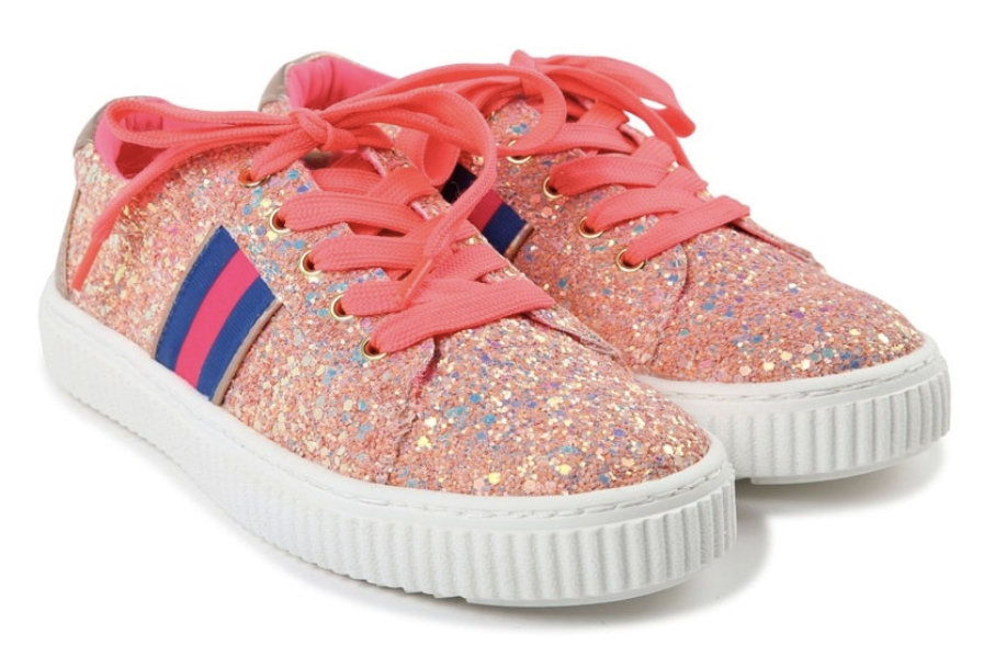 billieblush girls glitter pink trainers