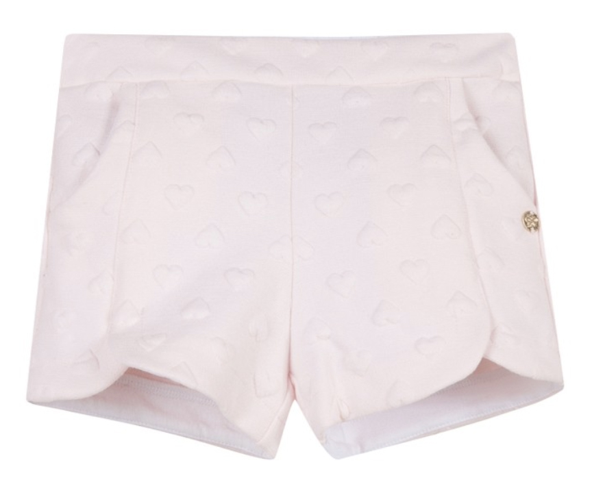 lili gaufrette girls pink heart shorts