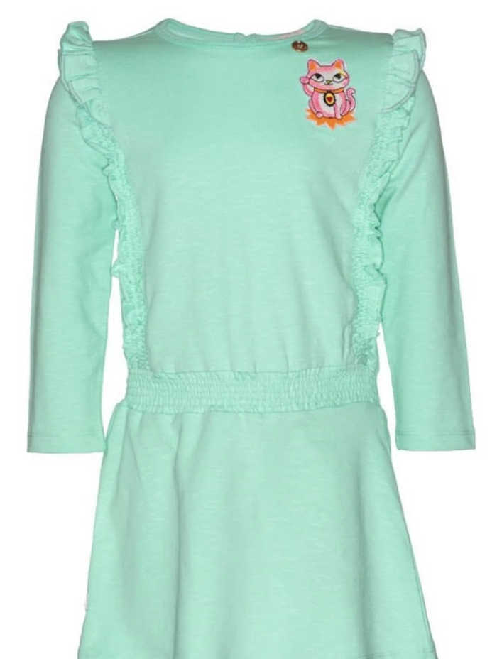 mim pi girls fluro green dress