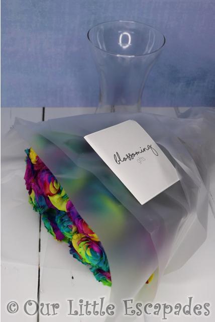 rainbow roses blossoming gifts nigella vase