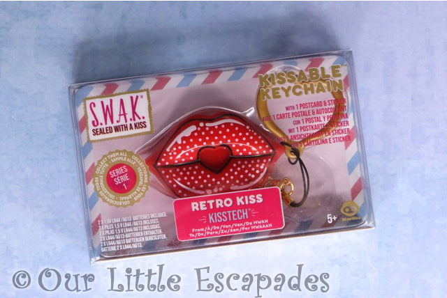 swak sealed with a kiss kissable keychains retro kiss