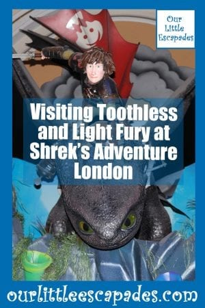 Visiting Toothless and Light Fury at Shreks Adventure London