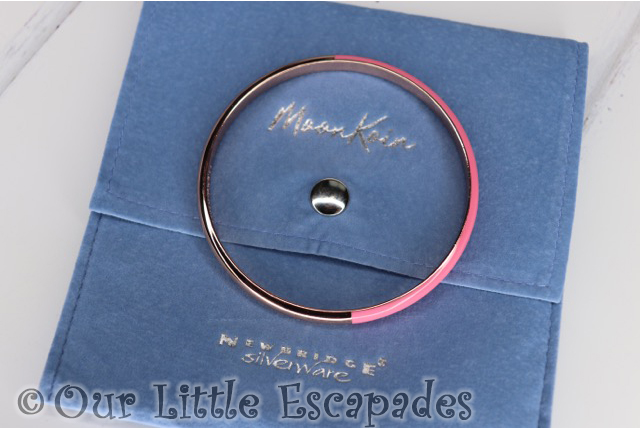 moonkoin rose gold plated half enamel pink bangle Mothers Day Gift Ideas