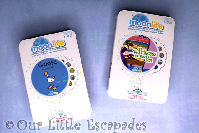 moonlite story reels princess and the pea goose