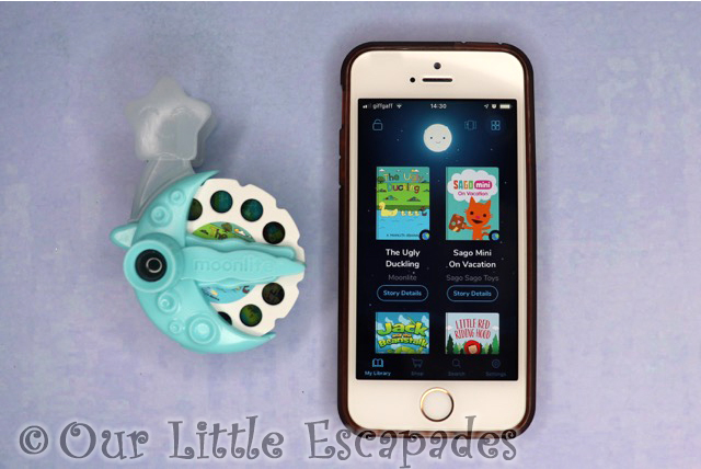 moonlite storybook projector moonlite app