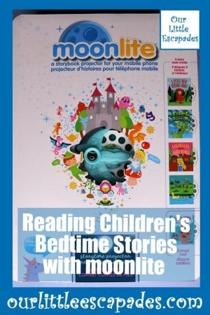 reading childrens bedtime stories with moonlite