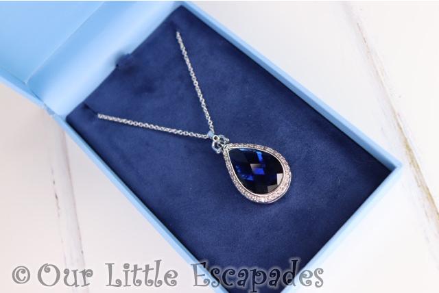 sapphire blue stone locket