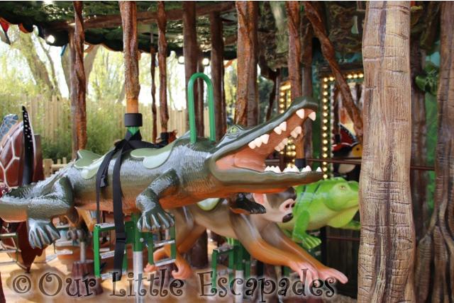 black caiman squirrel monkey