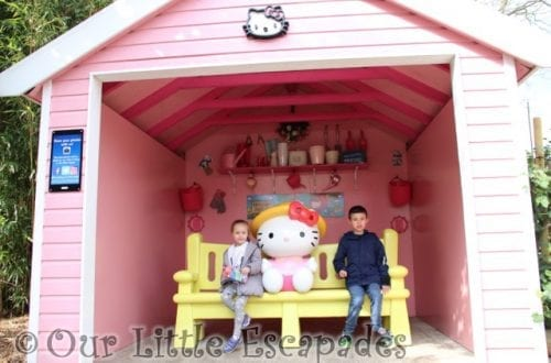 ethan little e hello kitty photo op hello kitty secret garden drusillas park