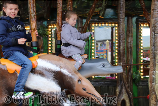 ethan little e rainforest carousel drusillas park