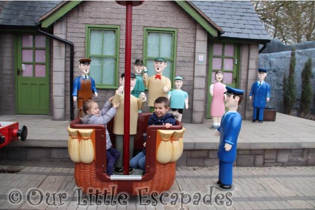 james red balloon ride photo op ethan little e