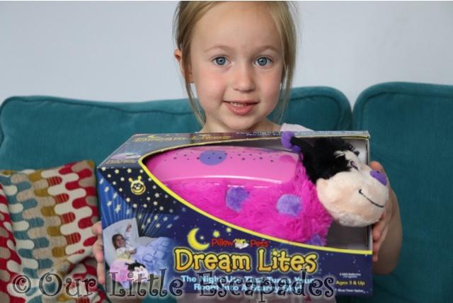 little e pillow pets dream lite hot pink ladybug