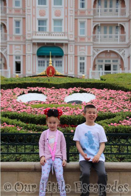 mickey mouse flowers disneyland hotel paris siblings