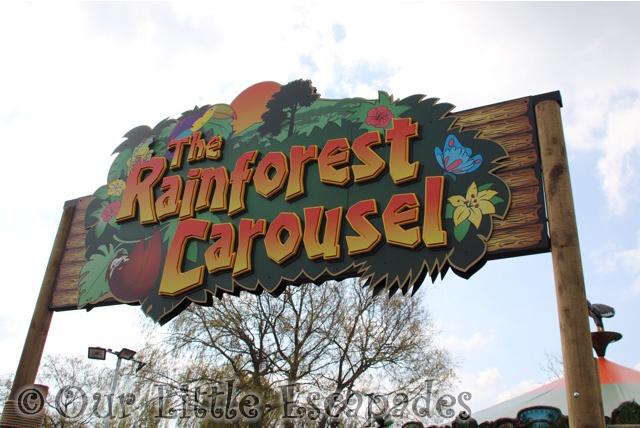 rainforest carousel sign drusillas park