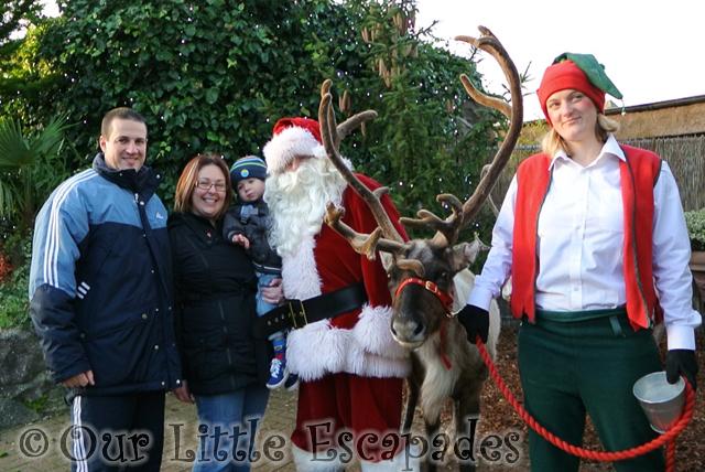 darren jane ethan santa reindeer breakfast with santa colchester zoo