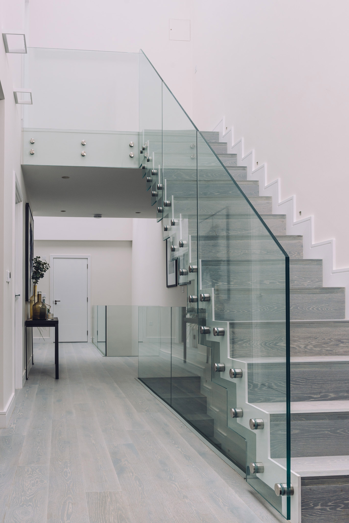 glass banisters toughened laminated glass