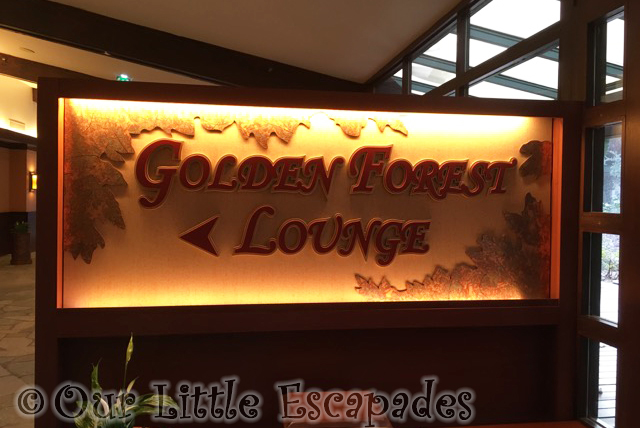 golden forest lounge sign disneys sequoia lodge