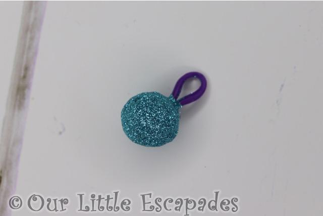 cleos blue glitter bag