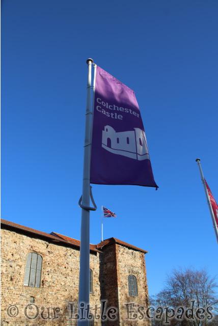 colchester castle flag