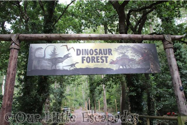 dinosaur forest sign port lympne
