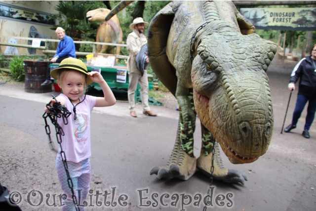 little e walking t rex port lympne
