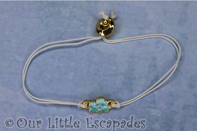 white collectible bracelet blue cloud