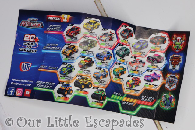 teamsterz micro motorz collectable leaflet