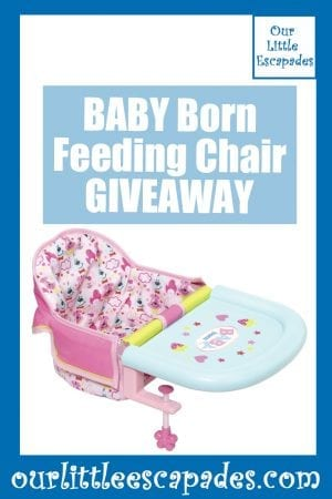 BABY Born Feeding Chair GIVEAWAY