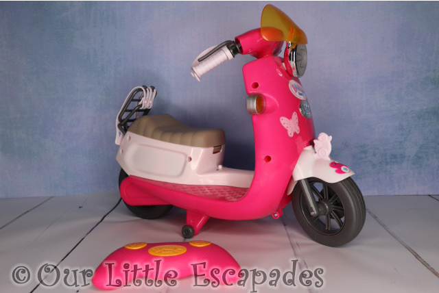baby born city remote control scooter