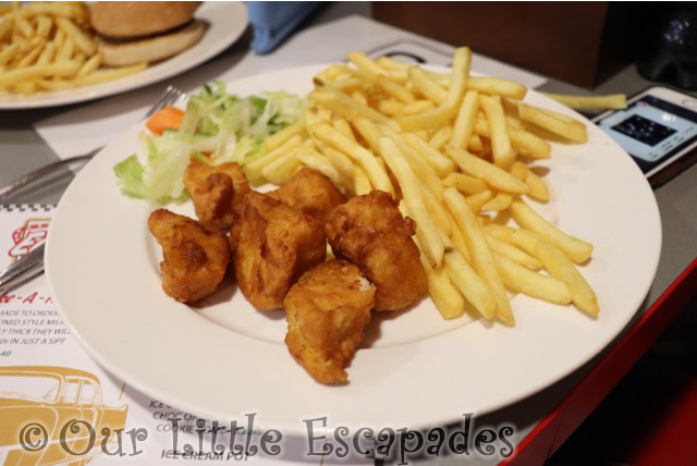 childrens chicken chips east coast diner rollerbowl romford