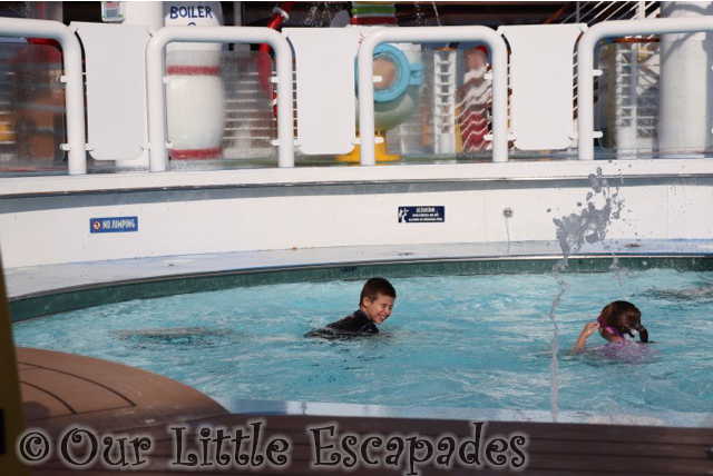 ethan little e swimming pool aqua lab disney magic