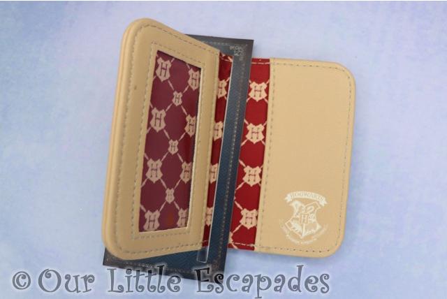 hogwarts travel card holder inside harry potter stocking filler ideas