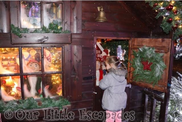 little e elf houses visiting santas woodland workshop