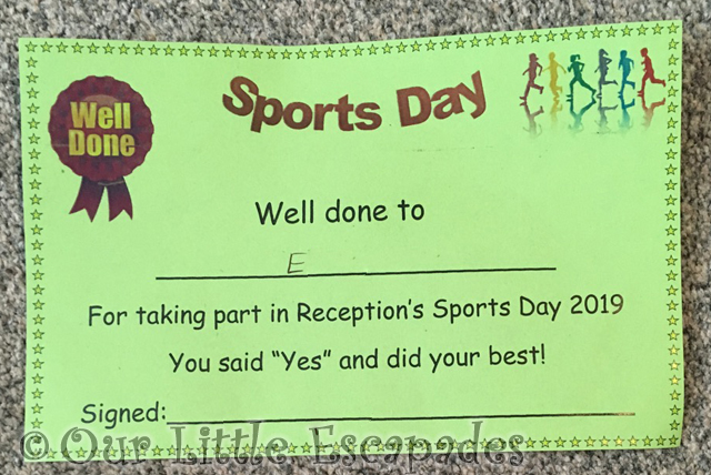 little e sports day certificate