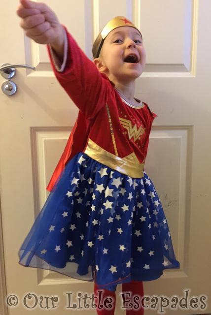 little e wonder woman superhero day