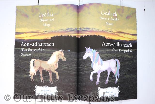 na gaidheil inner pages unicorns