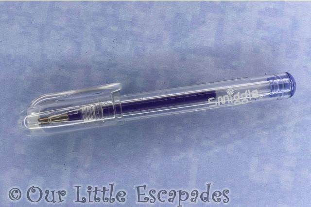 purple gel pen