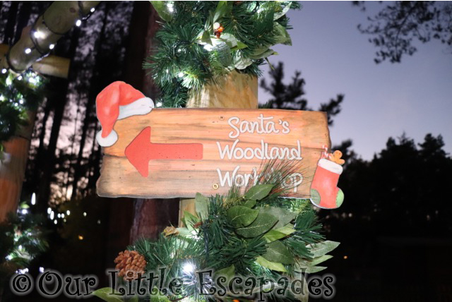 santas woodland workshop sign visiting santas woodland workshop
