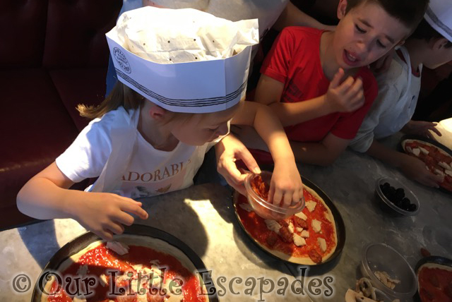 ethan little e pizza making party pizza express