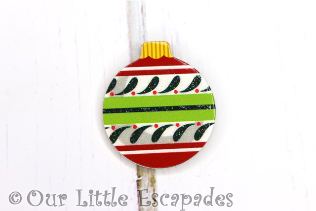 festive christmas pattern magnetic christmas tree bauble