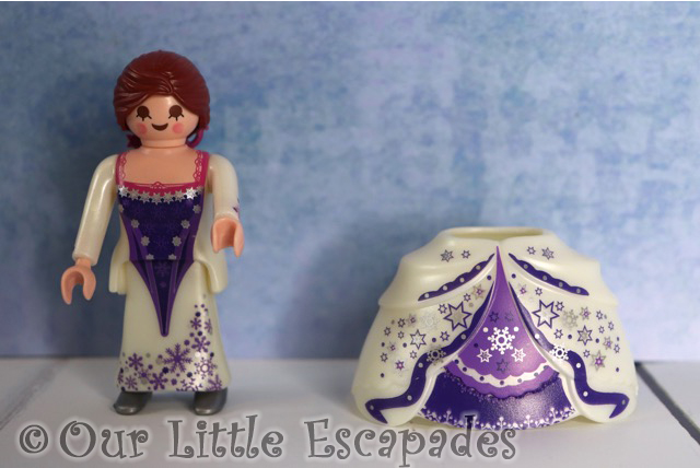 lady both style dresses white purple ballgown