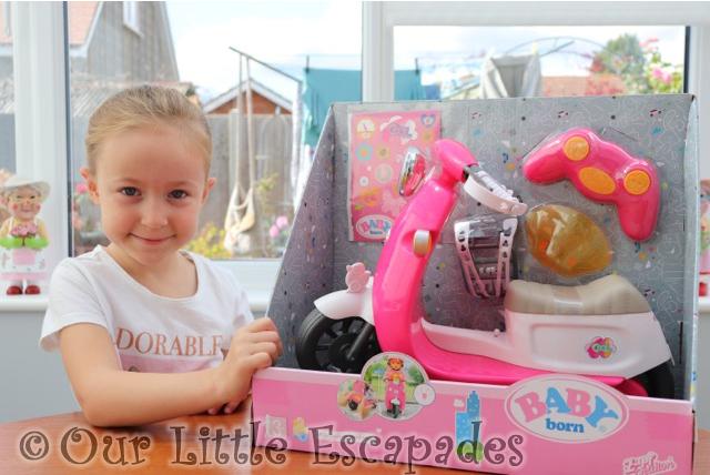 little e baby born city remote control scooter