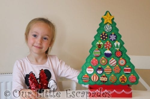 little e magnetic christmas tree baubles melissa doug christmas wooden advent calendar