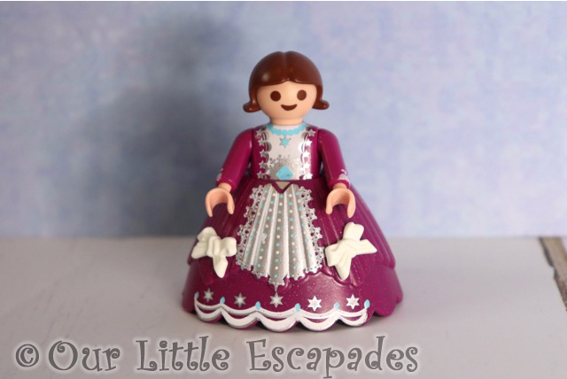 little girl purple ballgown playmobil christmas ball advent calendar