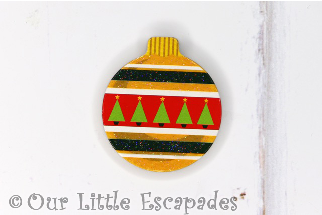 small christmas tree pattern magnetic christmas tree bauble