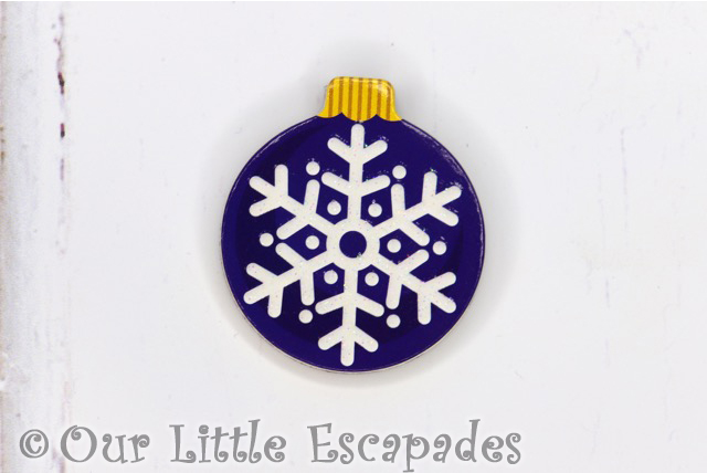 snowflake magnetic christmas tree bauble