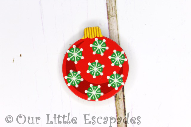 snowflake pattern magnetic christmas tree bauble