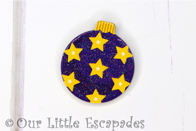 star pattern magnetic christmas tree bauble