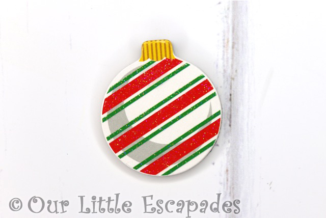 striped pattern magnetic christmas tree bauble