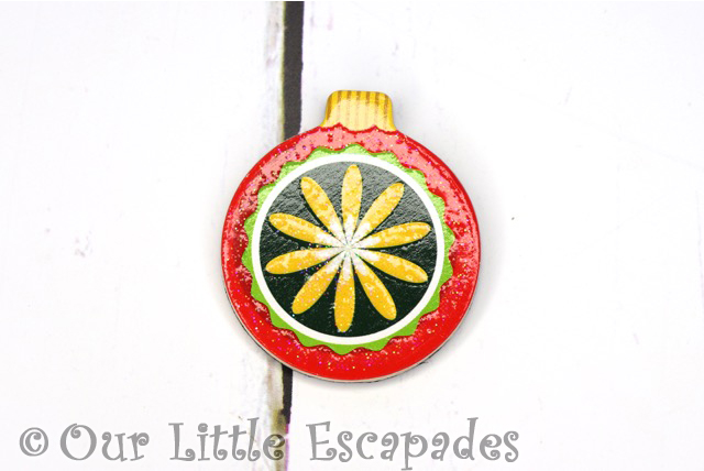 yellow flower pattern magnetic christmas tree bauble melissa doug christmas wooden advent calendar